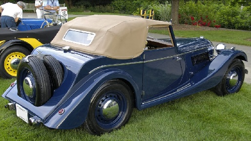 Two seater drophead coupe rear end.