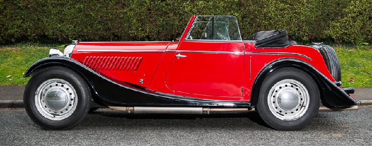 Two seater drophead coupe side.