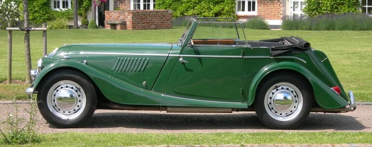 Four seater drophead coupe side.